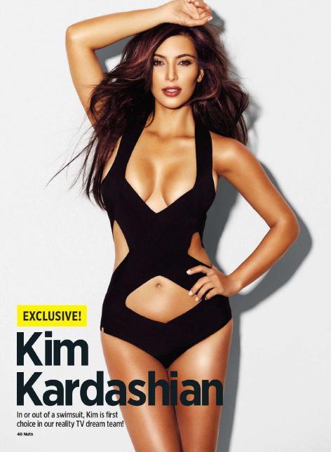 Fotos Kim Kardashian Revista Nuts Septiembre