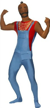 Mr T Second Skin Fancy Dress Costume