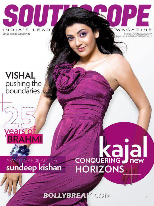 Kajal Agarwal on South Scope Cover - Kajal Agarwal on SouthScope Coverpage
