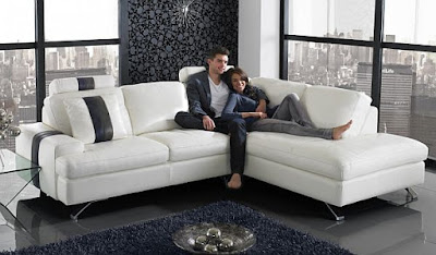 A popular style of L shaped sofa design