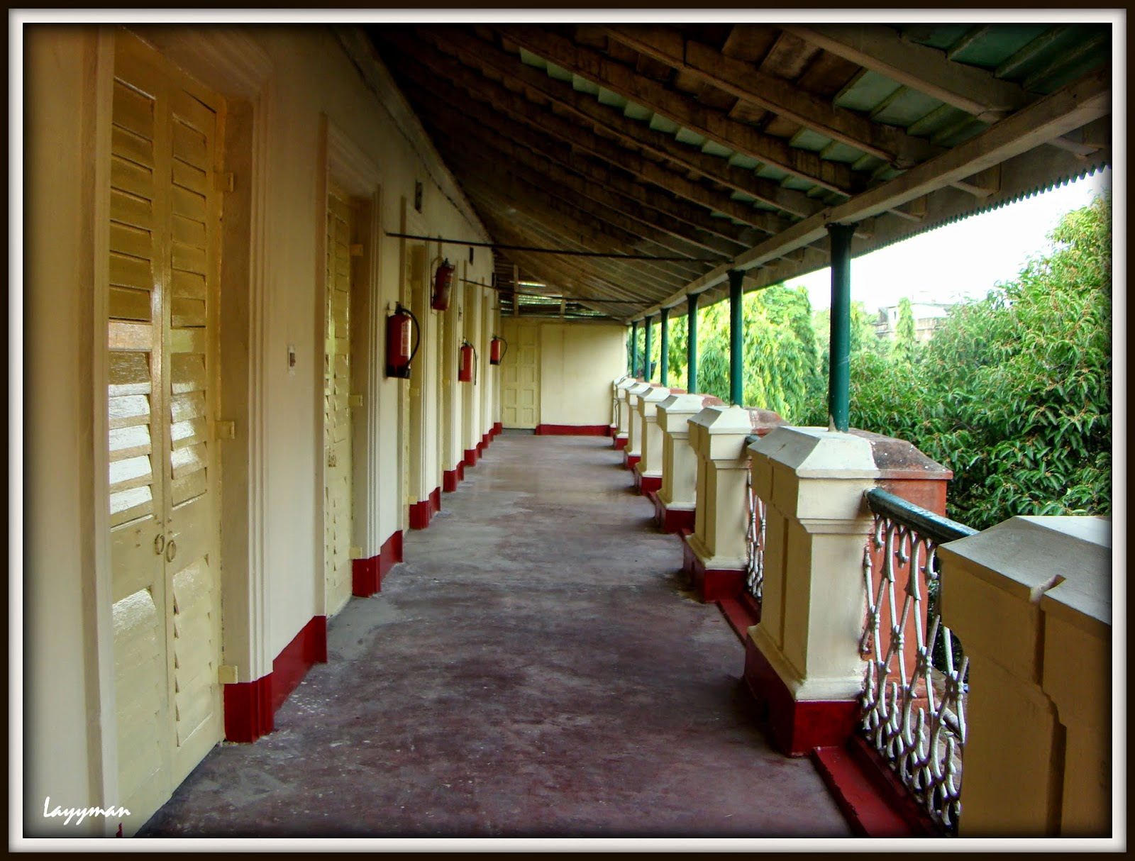 Outer verandah on 2nd floor. Jorasanko Thakur Bari