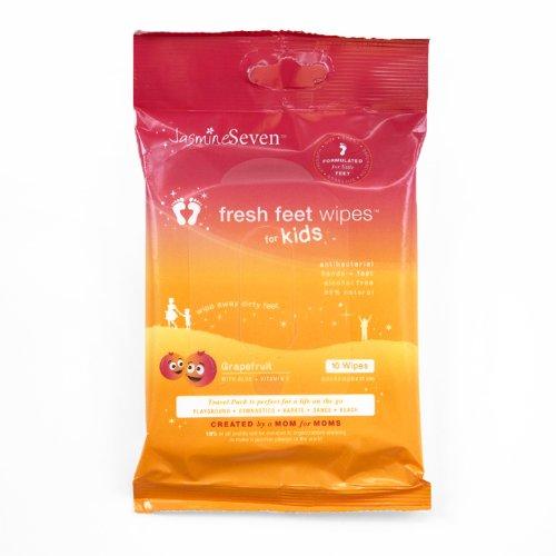 Jasmine Seven Fresh Feet Wipes in Grapefruit | Citrus Lane May Box: Look at the Loot