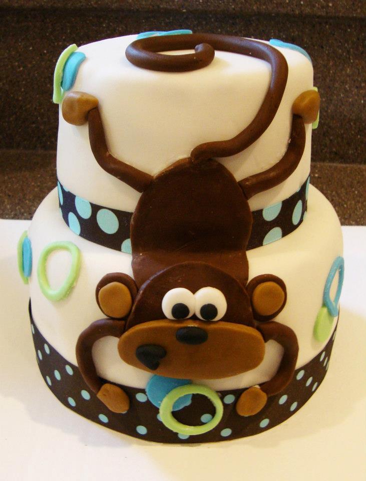 Monkey Cake- fondant