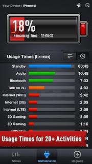 تطبيق مجانى للحفاظ على وزيادة عمر البطارية للايفون والايباد والايبود تاتش Battery Power Free 1.0.6 IPA