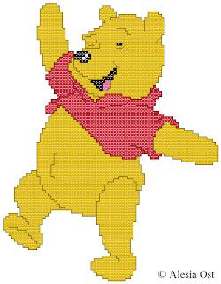 Free cross-stitch patterns, cross-stitch, back stitch, x-stitch, stitch, free cross-stitch scheme, cartoon, Winnie the Pooh, Disney, вышивка крестиком, бесплатная схема, хрестик, punto croce, schemi punto croce gratis
