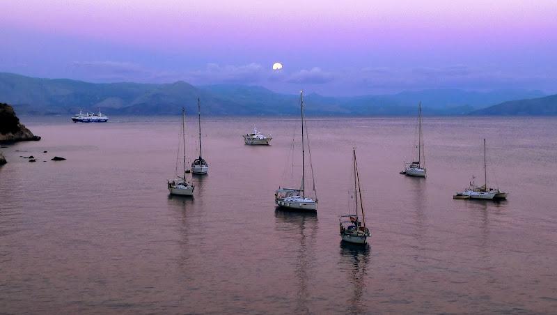 Vollmond Garitsa Bay (Korfu, Griechenland)