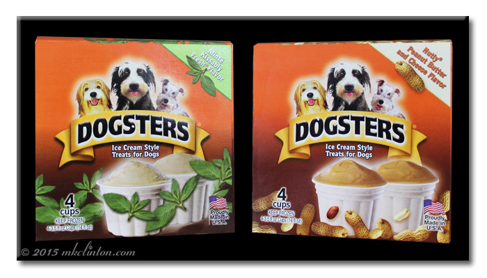 2 boxes of Dogsters Frozen Ice Cream Style Treats for Dogs