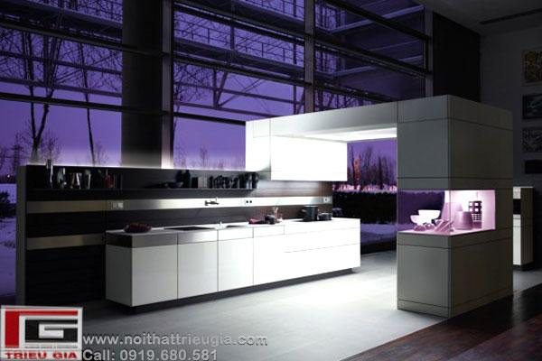 Thiết kế nội thất phòng ăn, thiết kế tủ bếp (kệ bếp) mang phong cách hiện đại, s