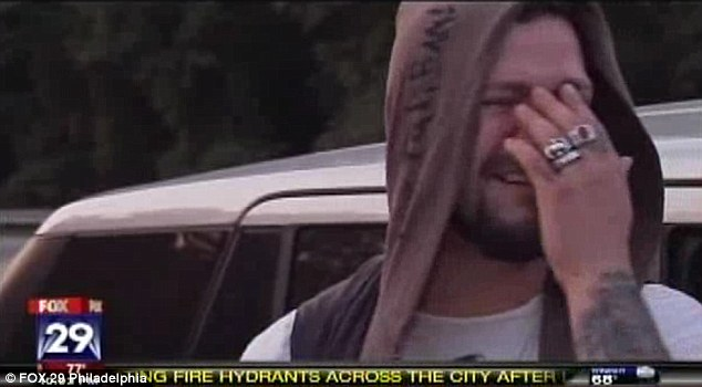 Raw grief of Jackass star's best friend: Heartbreaking video shows inconsolable Bam Margera as he visits spot where Ryan Dunn died in fiery crash