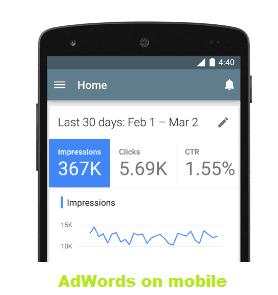 Google meluncurkan aplikasi AdWords untuk android