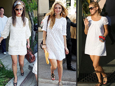 how to add color to a white dress