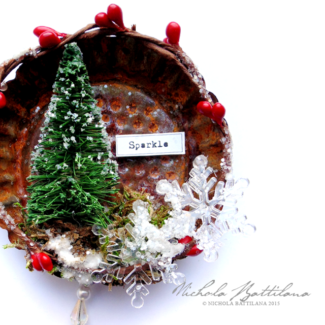 Tart Tin Ornament Tutorial - Nichola Battilana