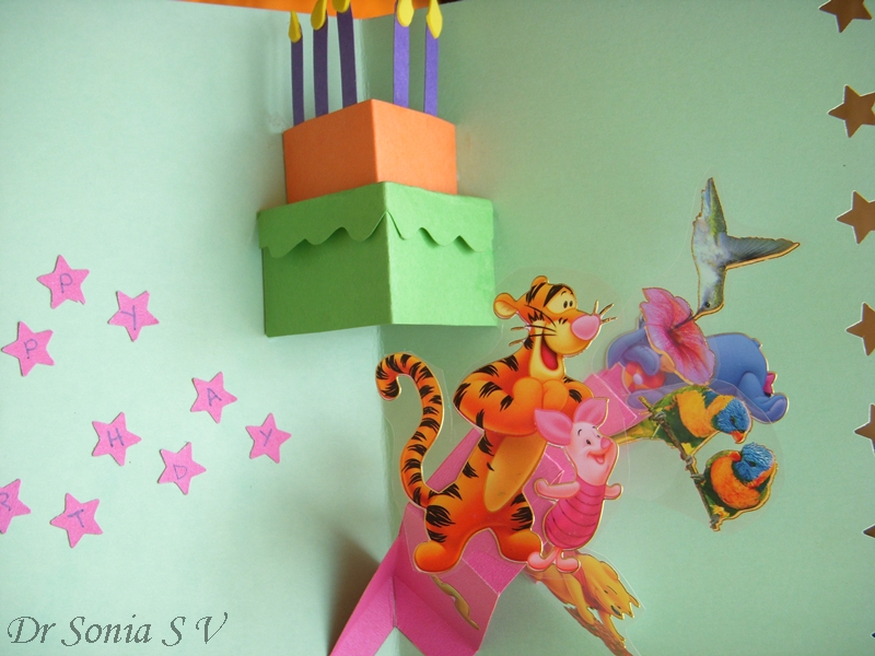 Birthday Card Craft Ideas For Toddlers ~ Cards crafts kids projects pop up card disney birthday