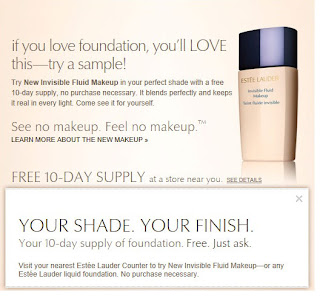 FREE 10 Day Supply of Estée Lauder Invisible Makeup