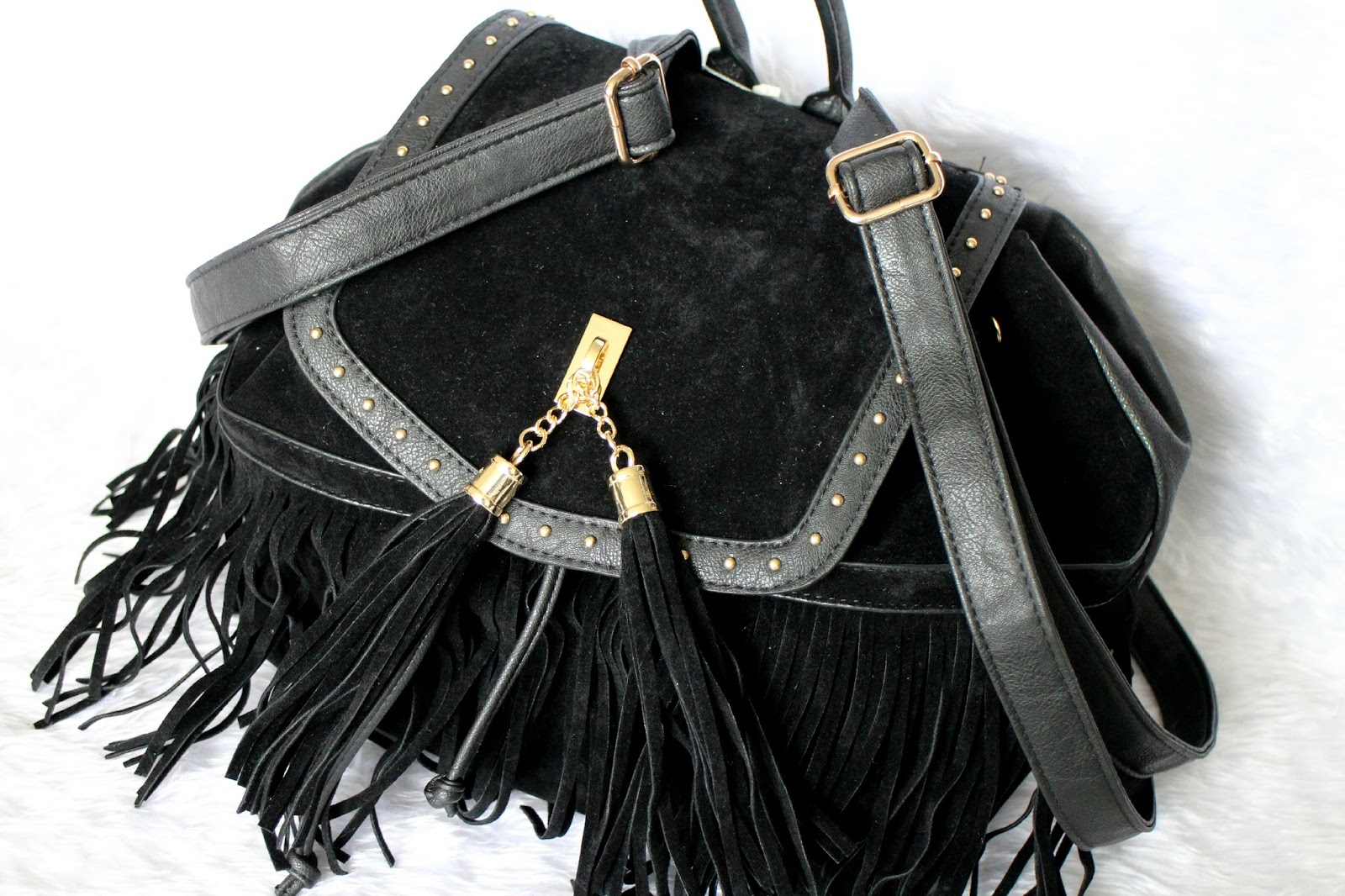 New Look Fringed Backpack