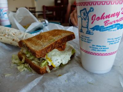 Egg Sandwich at Johnny's