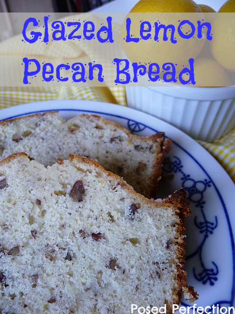 This Glazed Lemon Pecan Bread is the perfect treat to accompany a cup of coffee or tea!