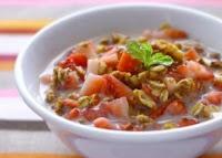 Matinal de Morango com Granola (vegana)