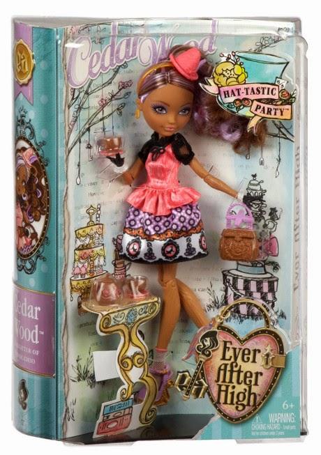 TOYS : JUGUETES - EVER AFTER HIGH  Hat-tastic Party - Cedar Wood  muñeca & dolls | La fiesta sombretástica  Producto Oficial 2014 | Mattel BJH32 | A partir de 6 años