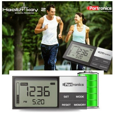 Portronics Health Key 2 – 3D Digital Pedometer for Rs.650 at Snapdeal