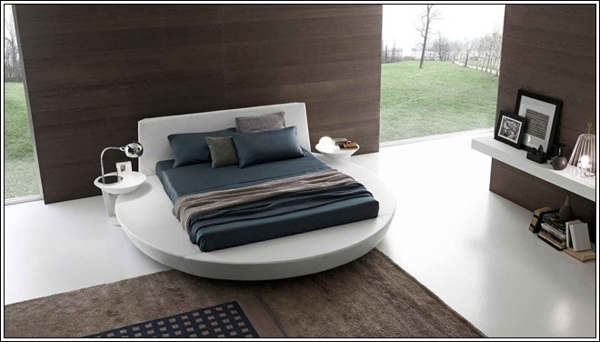 Chambre Gris Et Bleu Ciel : Chambre à coucher de rêve Lits circulaires ! ~ Décor de Maison