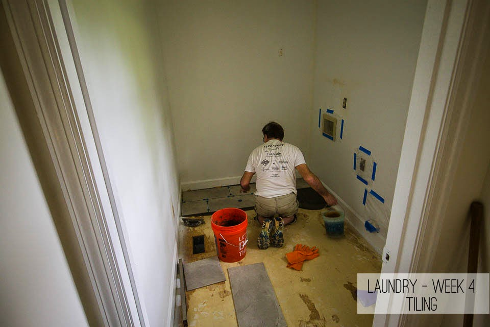 laundry room tiling