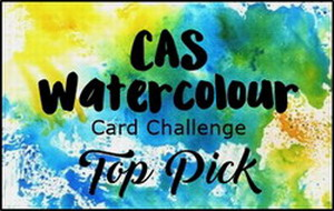 CAS Watercolour Top Pick Badge
