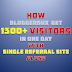 How BloggerBux Get 1300+ Visitors In One Day With Single Referral Site Alone