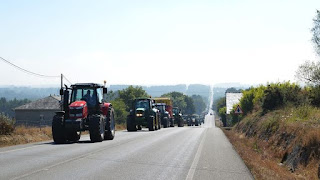 Indignación ganadera en las carreteras gallegas