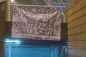 NO ALLA PRIVATIZZAZIONE DELLA SANITA'