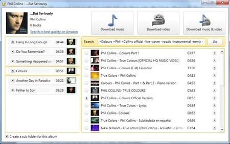 Tìm kiếm và download cả album của một nghệ sĩ/ban nhạc