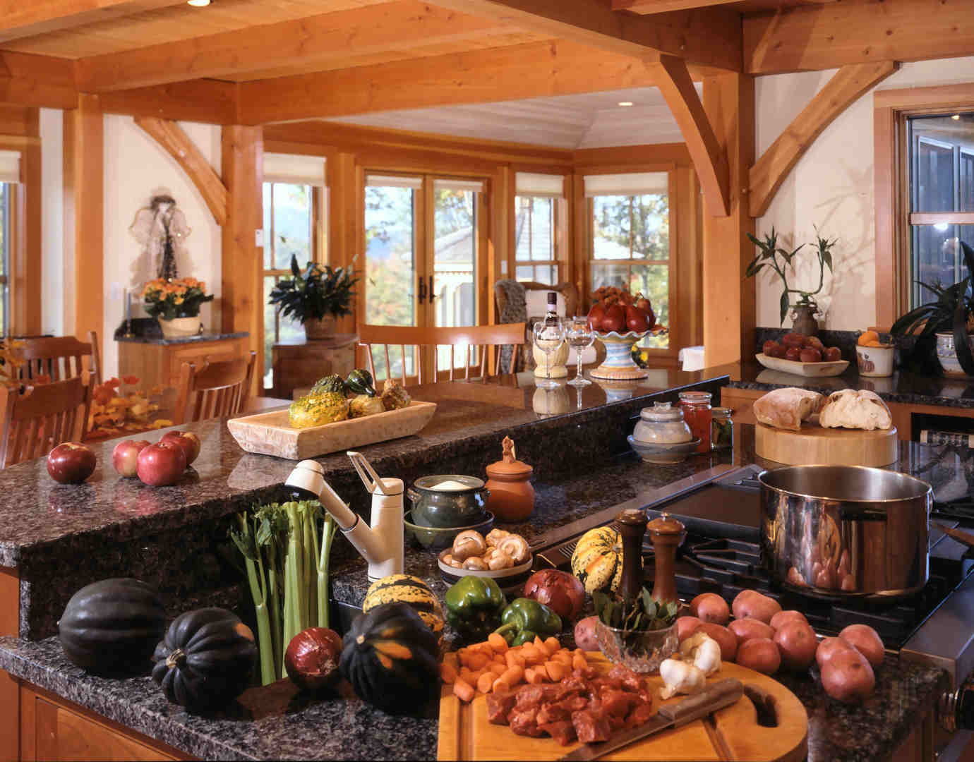 A Frame Kitchen Timberpeg Timber Frame Blog Update A Great Timber Frame House For