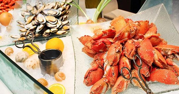 Buffet de fruits de mers à La Coupole pour le jour de Noël