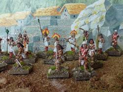 Différents types de combattants de l'armée inca.