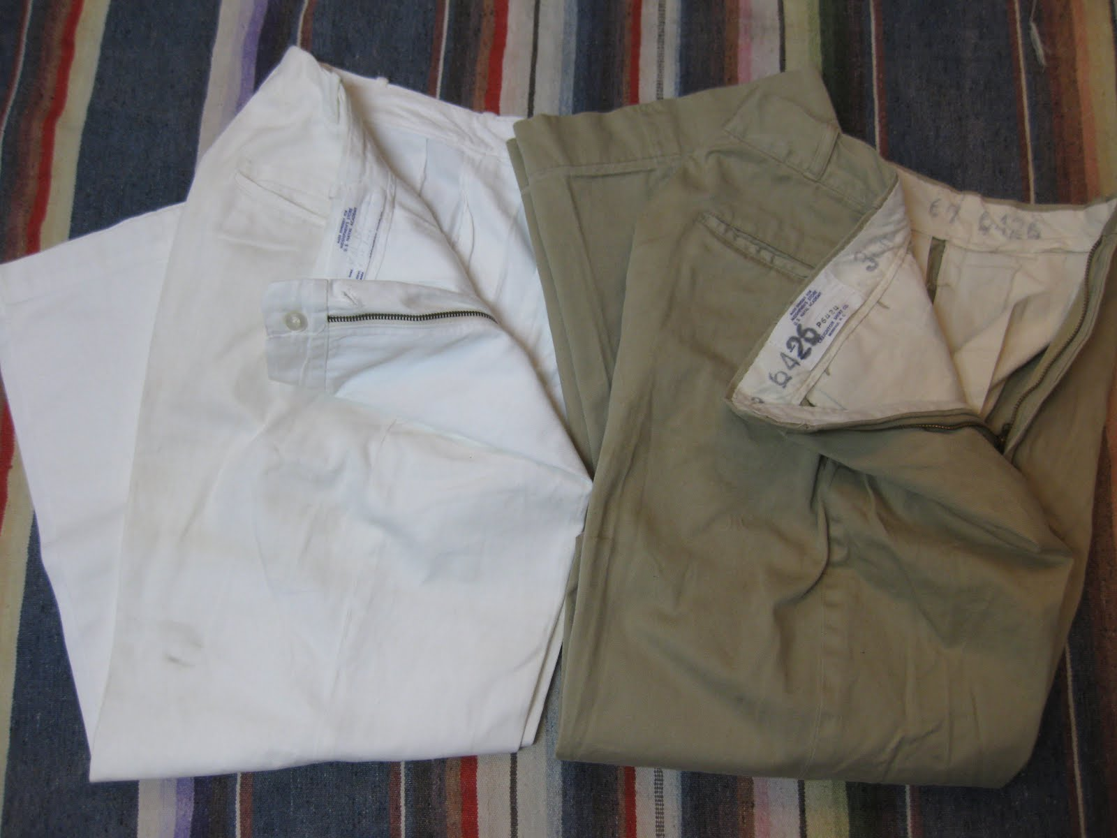 画像①                  60's 「U.S.NAVAL ACADEMY」                CHINO PANTS              BEIGE & WHITE