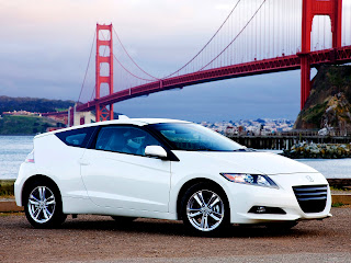 White Honda Cr-Z 2012  with Awesome City Landscape HD Wallpaper