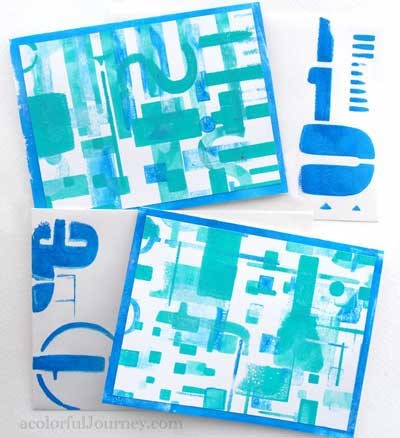 Using Gelli Plate with Stencils
