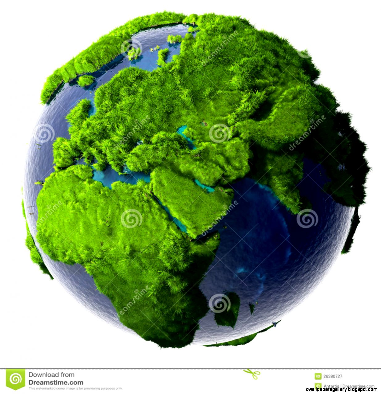 Green Planet Earth Royalty Free Stock Photography   Image 26380727