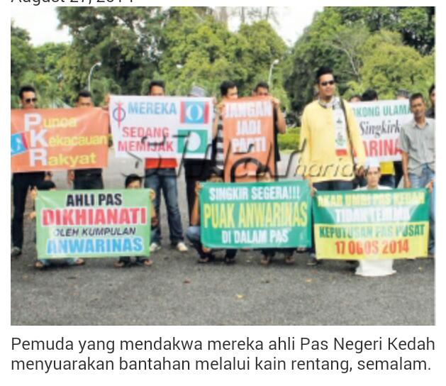 Ahli PAS Kedah DEMO Desak Keputusan 17 Ogos TIDAK SOKONG Khalid DIBATALKAN KEKALKAN Keputusan Majlis Syura Ulama PAS