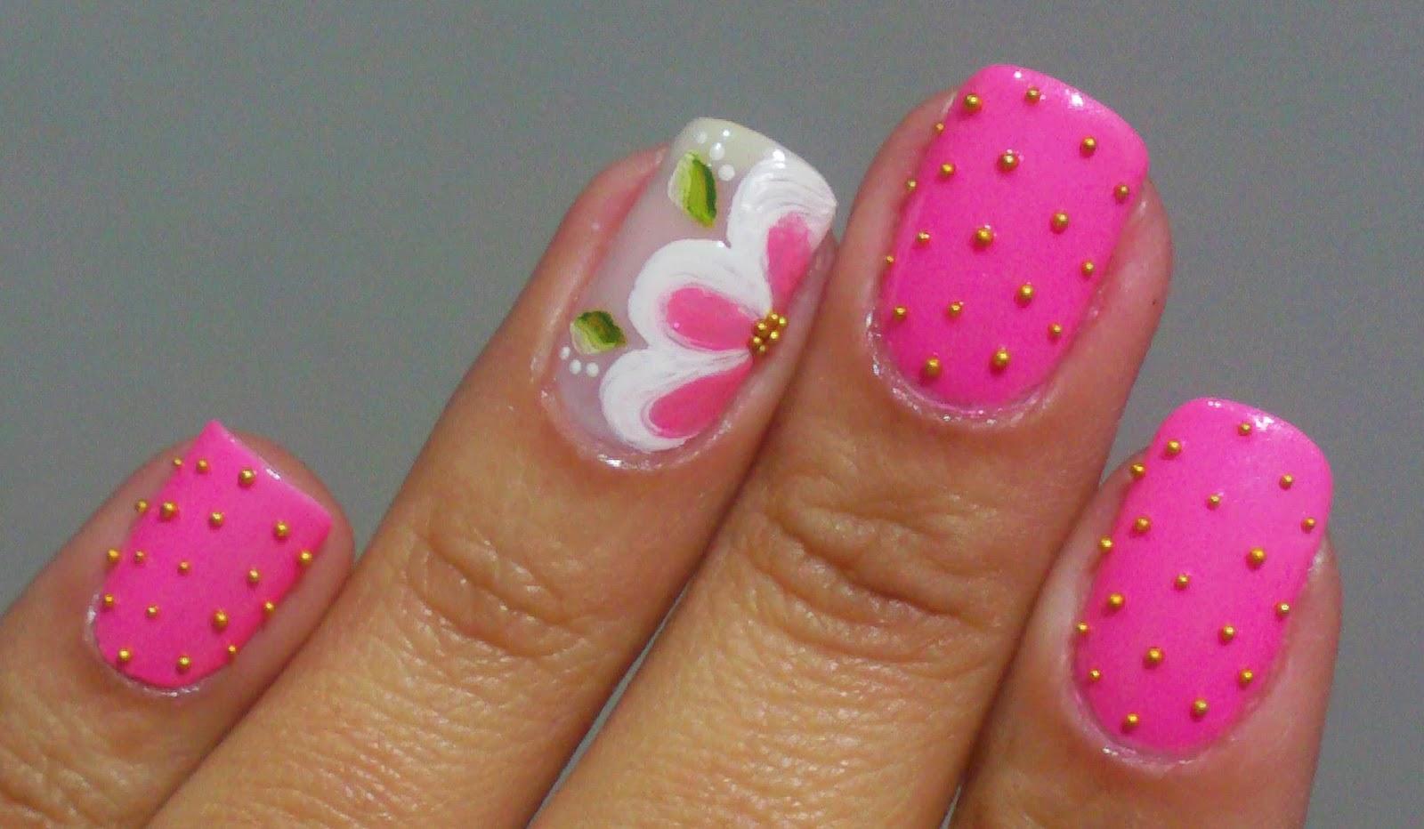 bela e simples nail art 2014 08 31
