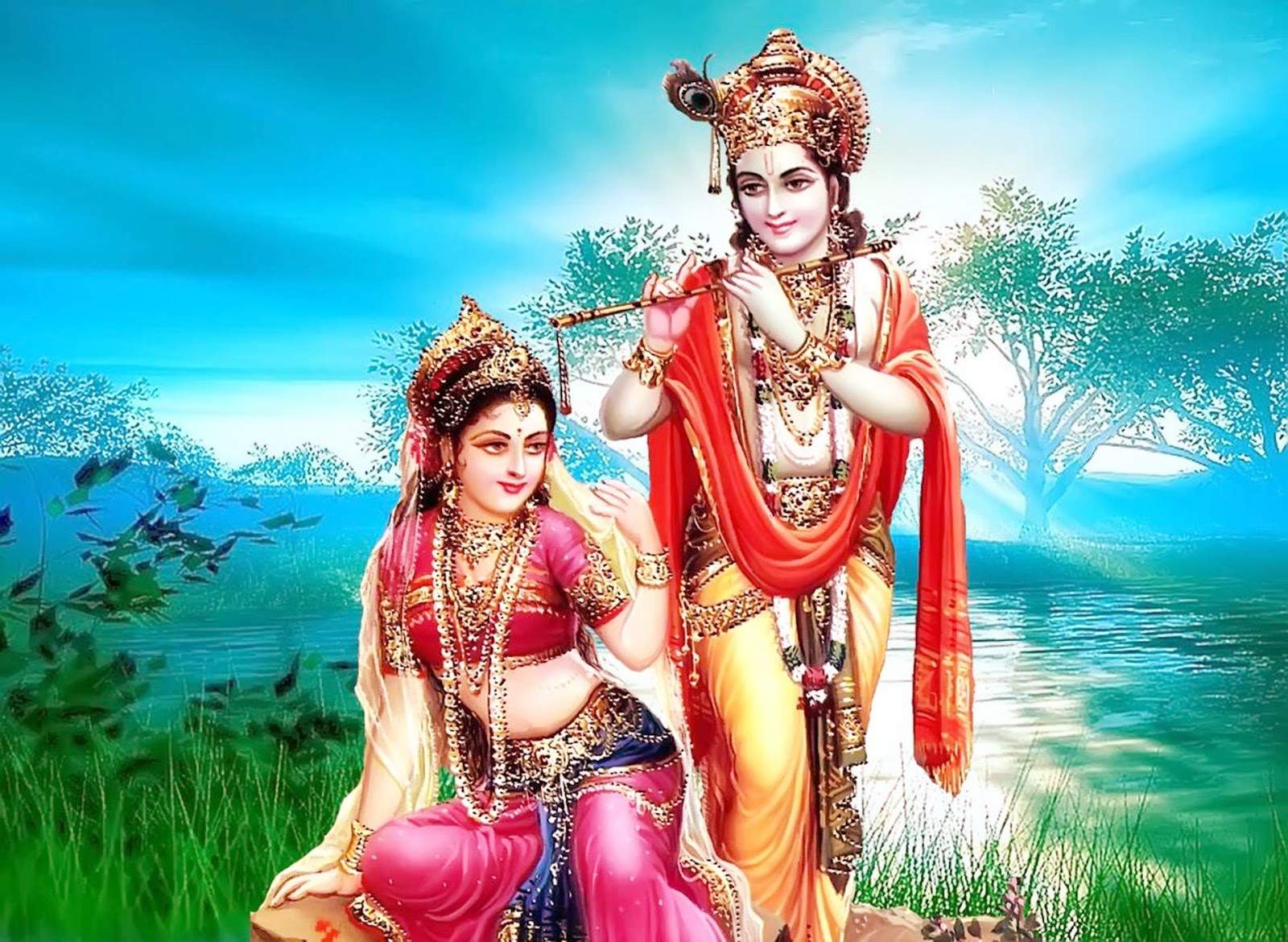 Radha krishna Love HD Wallpaper ~ HD WALLPAPERS