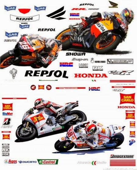 gambar stiker motor MotoGP