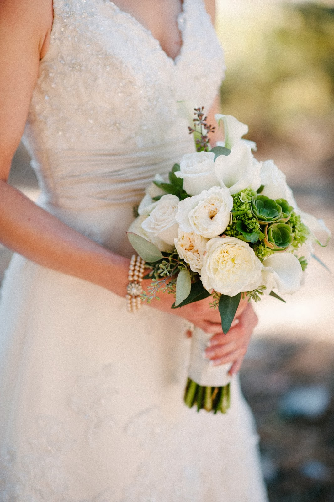 white and green bridal bouquet // Acres of Hope Photography // Take the Cake Event Planning