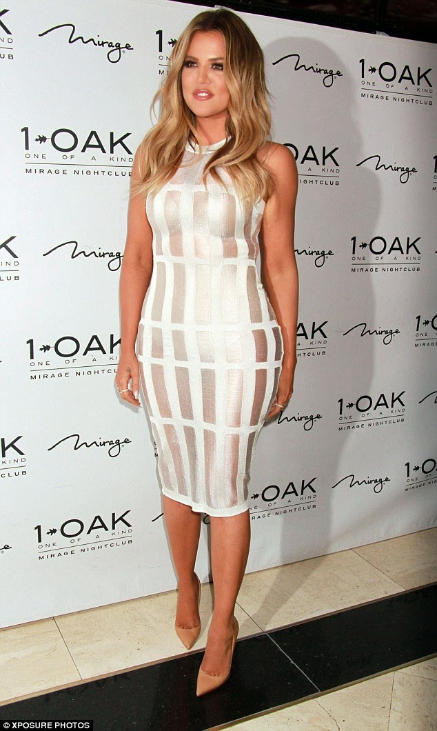 Photos: Khloe K steps in see-through outfit - you can see her spanx