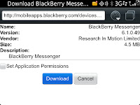 Descargar BlackBerry Messenger ultima Version Oficial 6.1.0.49