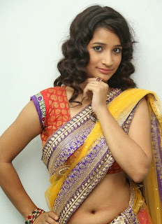 Actress Santhoshi Sharma Latest  Pictures in Half Saree at Toll Free No 143 Audio Launch  14