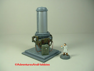 Mad science lab equipment containment tower - front view