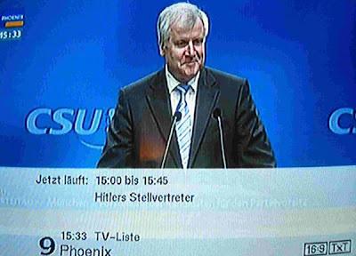Horst Seehofer ist Hitlers Stellvertreter auf Phoenix