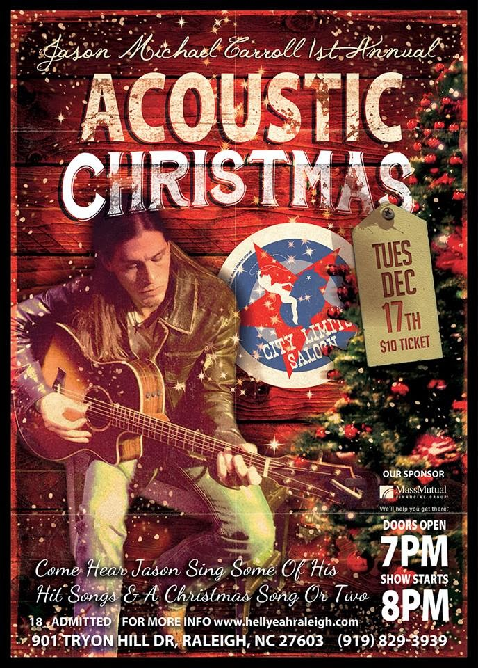 SPEND AN ACOUSTIC EVENING WITH JASON MICHAEL CARROLL ON TUESDAY, DECEMBER 17