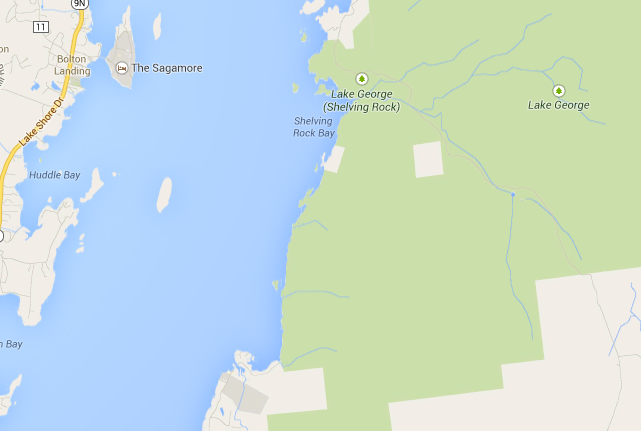 Extreme Video News Cliff Jumping In Lake George Jumping The Calf - Calf map